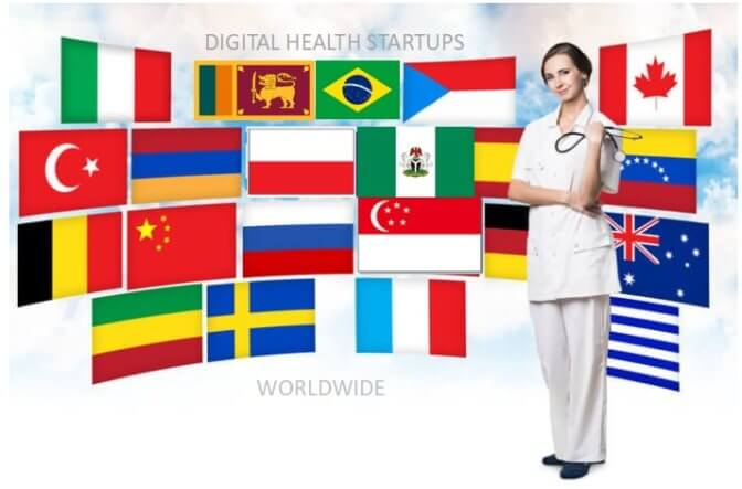 888 innovative digital health, eHealth, mHealth startups worldwide