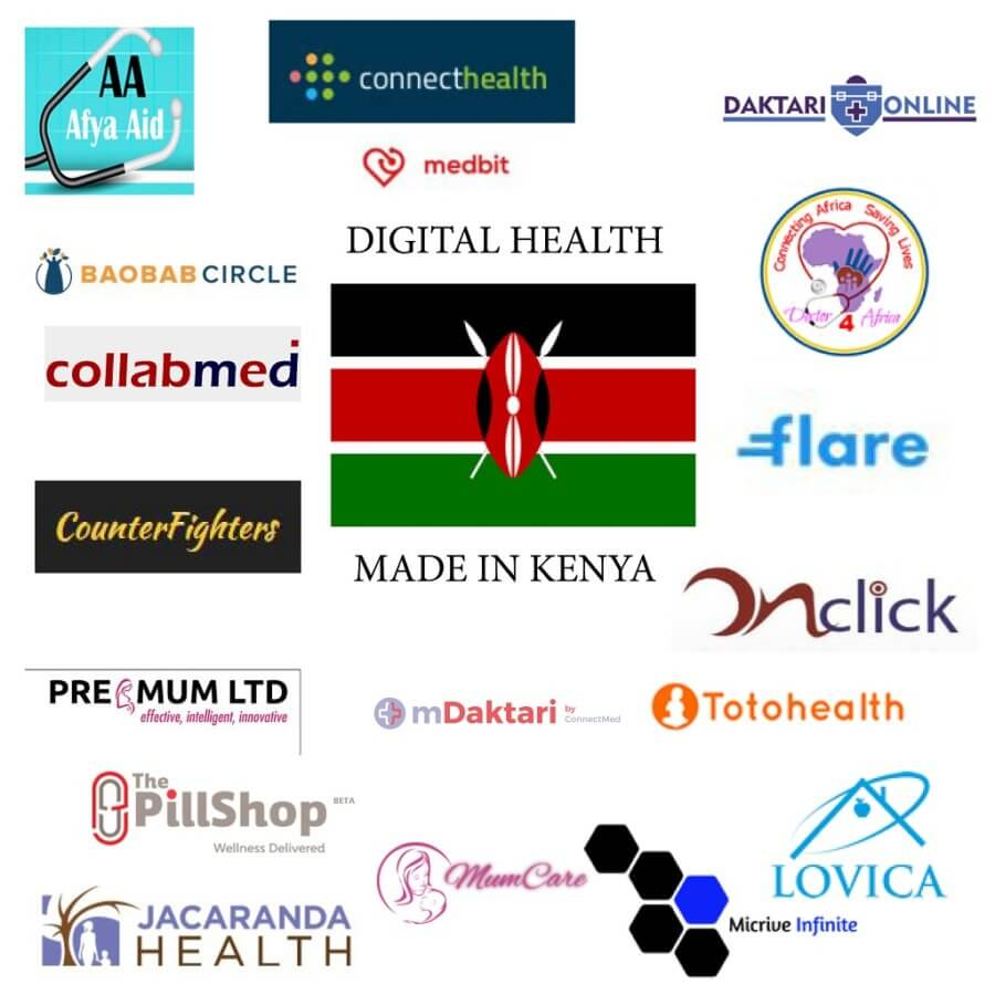 20 Innovative digital health, eHealth, mHealth startups in Kenya