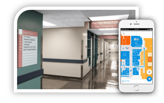 Hospital navigation apps