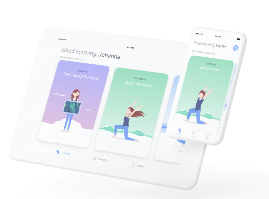 mobile app for lower back pain